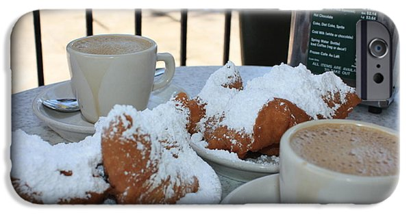 Cafe Au Lait iPhone Cases - New Orleans Breakfast iPhone Case by Carol Groenen