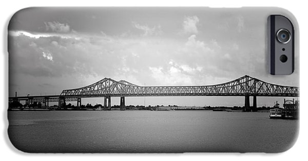 Big Easy iPhone Cases - New Orleans CCC Bridge iPhone Case by Christine Till