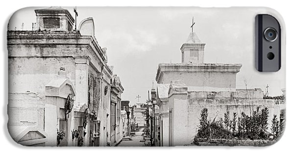Cemetary iPhone Cases - New Orleans: Cemetery iPhone Case by Granger