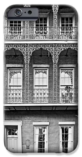 Balcony iPhone Cases - New Orleans - City of Iron Lace iPhone Case by Christine Till
