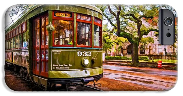 Rainy Day iPhone Cases - New Orleans Classique oil iPhone Case by Steve Harrington