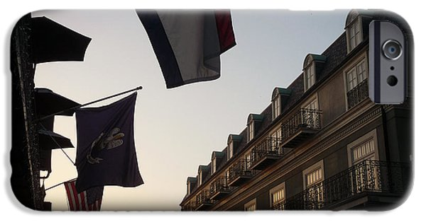 Flag iPhone Cases - Evening in New Orleans iPhone Case by Valerie Reeves