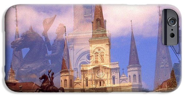 Best Buy Mixed Media iPhone Cases - New Orleans Fantasy - Photo Collage iPhone Case by Peter Fine Art Gallery  - Paintings Photos Digital Art