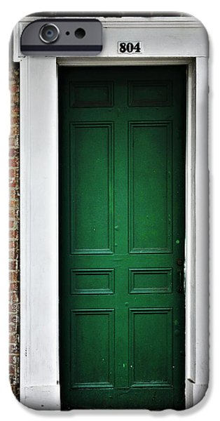 Big Easy iPhone Cases - New Orleans Green Door iPhone Case by Christine Till