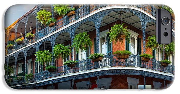 Culture iPhone Cases - New Orleans House iPhone Case by Inge Johnsson