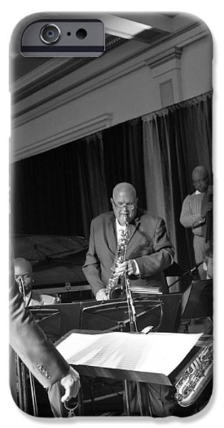 Irvin iPhone Cases - New Orleans Jazz Orchestra iPhone Case by William Morgan