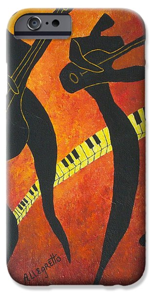 Bassist iPhone Cases - New Orleans Jazz iPhone Case by Pamela Allegretto
