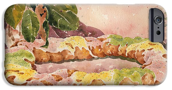 Mardi Gras Paintings iPhone Cases - New Orleans King Cake iPhone Case by Joyce Hensley
