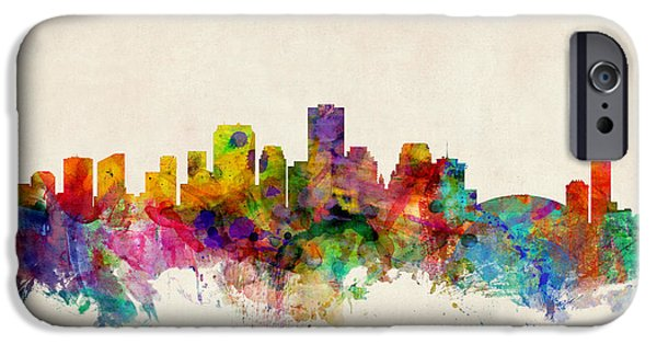 States iPhone Cases - New Orleans Louisiana Skyline iPhone Case by Michael Tompsett