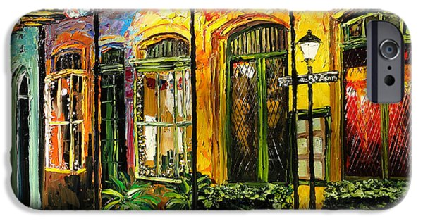 French Quarter Paintings iPhone Cases - New Orleans Original Painting iPhone Case by Beata Sasik