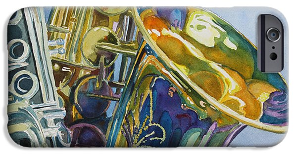 Swing Paintings iPhone Cases - New Orleans Reeds iPhone Case by Jenny Armitage