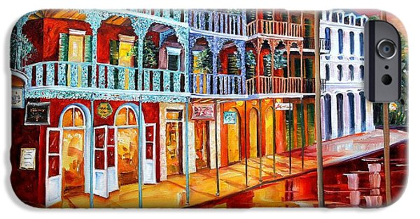 Big Easy iPhone Cases - New Orleans Reflections in Red iPhone Case by Diane Millsap