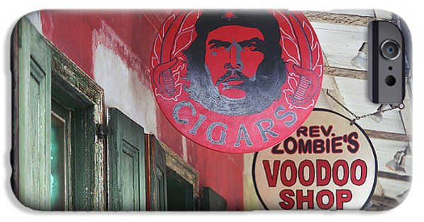 Voodoo Shop iPhone Cases - New Orleans Shops iPhone Case by Frank Romeo
