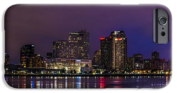 David iPhone Cases - New Orleans Skyline iPhone Case by David Morefield