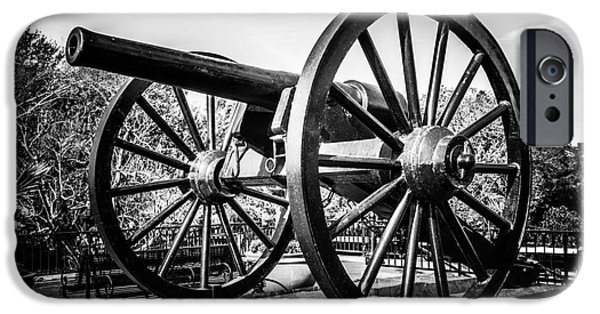 Artillery iPhone Cases - New Orleans Washington Artillery Park Cannon iPhone Case by Paul Velgos