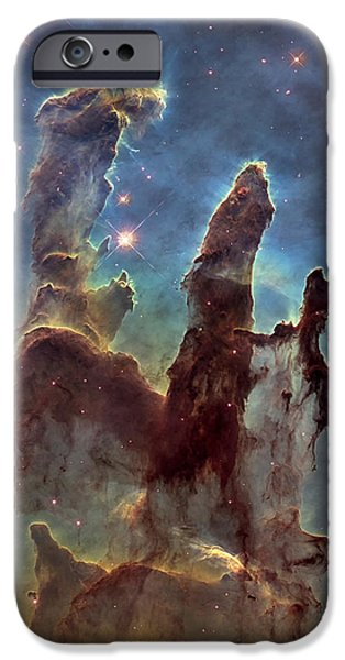 Heaven iPhone Cases - New Pillars of Creation HD Tall iPhone Case by Adam Romanowicz