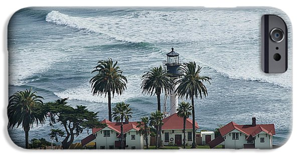 Carter House iPhone Cases - New Point Loma Lighthouse iPhone Case by See My  Photos