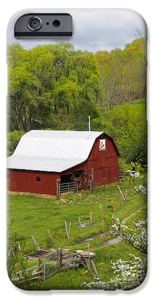 Red Barn iPhone Cases - New Red Paint 2 iPhone Case by Mike McGlothlen