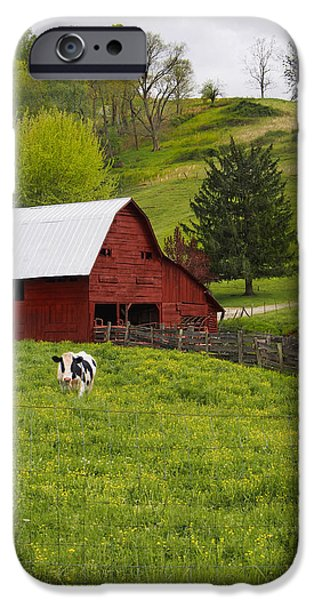 Barns Digital Art iPhone Cases - New Red Paint iPhone Case by Mike McGlothlen