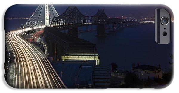 Bay Bridge iPhone Cases - New San Francisco Oakland Bay Bridge iPhone Case by Adam Romanowicz
