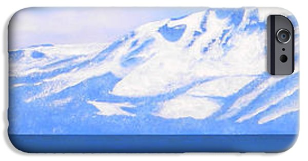 Snowscape Paintings iPhone Cases - New Snow Lake Tahoe iPhone Case by Frank Wilson
