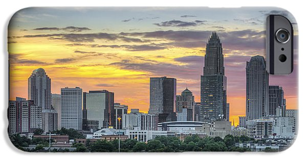 Clt iPhone Cases - New South Summer Sunset iPhone Case by Brian Young