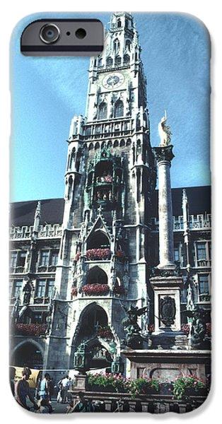 Marienplatz iPhone Cases - New Town Hall Munich iPhone Case by Tom Wurl