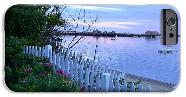 Cape Cod Pyrography iPhone Cases - Provincetown Sunset  iPhone Case by Gus Orr