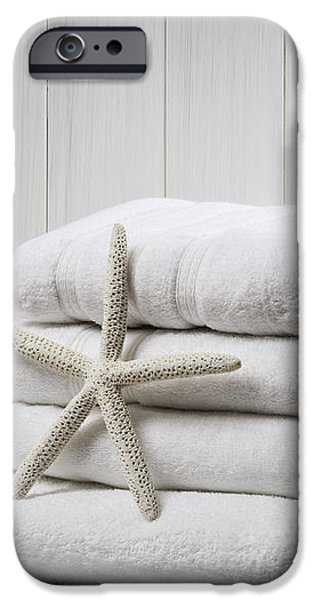 New White Towels iPhone Case by Amanda And Christopher Elwell