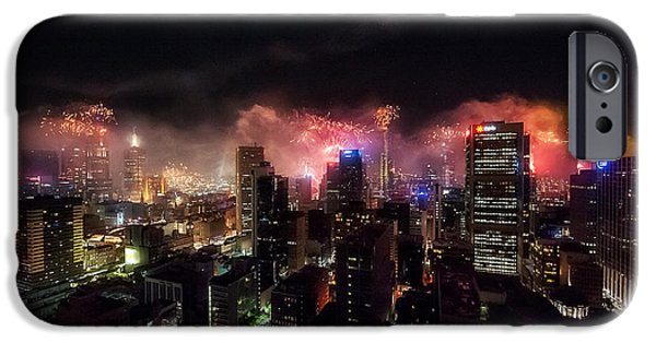 4th July Photographs iPhone Cases - New Year Fireworks II iPhone Case by Ray Warren