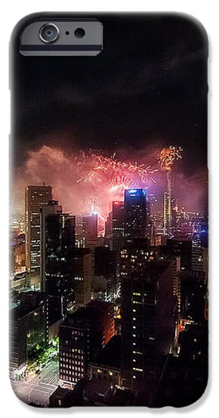 New Year Fireworks II iPhone Case by Ray Warren