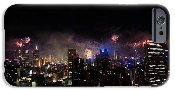 4th July iPhone Cases - New Year Fireworks III iPhone Case by Ray Warren