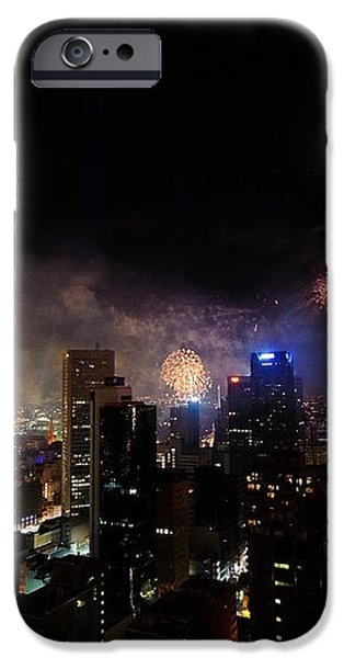 New Year Fireworks III iPhone Case by Ray Warren