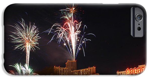 Fireworks Pyrography iPhone Cases - New Years 2010 iPhone Case by Pobby Heglar
