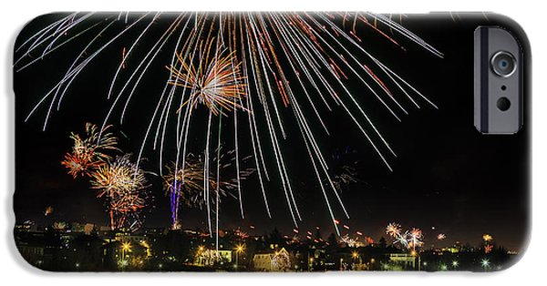 Fireworks iPhone Cases - New Years Eve Fireworks Are Legal iPhone Case by Panoramic Images