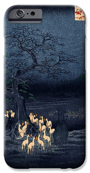 New Years iPhone Cases - New Years Eve Foxfires at the Changing Tree iPhone Case by Nomad Art And  Design