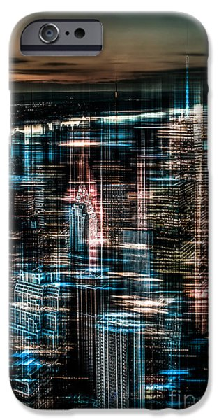 High Tower iPhone Cases - New York - the night awakes - dark iPhone Case by Hannes Cmarits