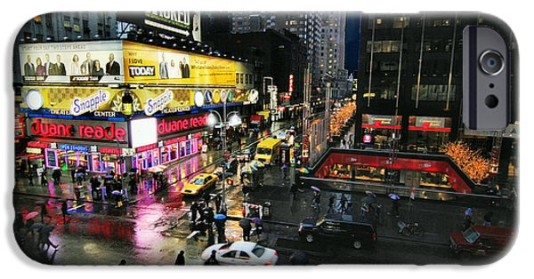 City Scape Digital Art iPhone Cases - New York After the Rain iPhone Case by Linda Unger