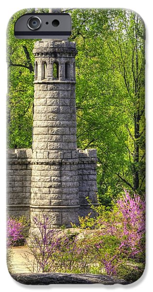 5th Infantry Regiment iPhone Cases - New York at Gettysburg - Monument to 12th / 44th NY Infantry Regiments-2A Little Round Top Spring iPhone Case by Michael Mazaika