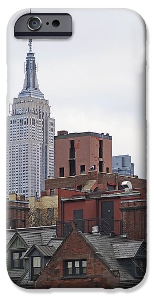 Nyc iPhone Cases - New York Buttes iPhone Case by Rona Black