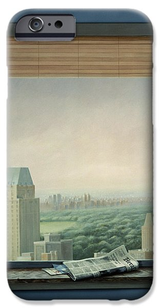 Ledge iPhone Cases - New York Central Park iPhone Case by Lincoln Seligman