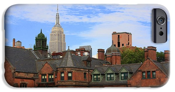 Empire State iPhone Cases - New York City - A View from the Highline iPhone Case by  Photographic Art and Design by Dora Sofia Caputo