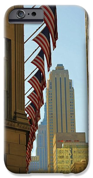 American Pride iPhone Cases - New York City And American Pride iPhone Case by Dan Sproul
