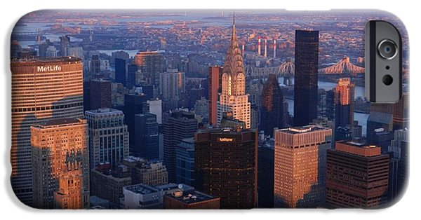 Empire State iPhone Cases - New York City At Dusk iPhone Case by Emmy Marie Vickers