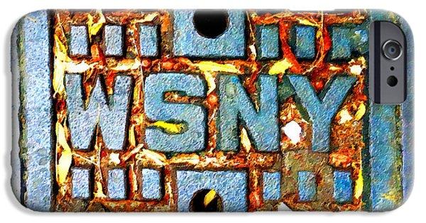 Interior Scene Mixed Media iPhone Cases - New York City Autumn Street Detail Painting iPhone Case by Tony Rubino