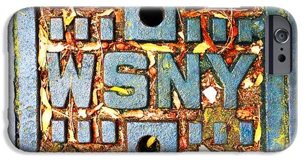 Interior Scene Mixed Media iPhone Cases - New York City Autumn Street Detail Photo iPhone Case by Tony Rubino