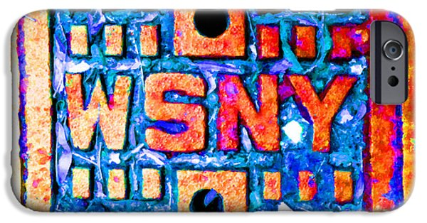 Interior Scene Mixed Media iPhone Cases - New York City Autumn Street Detail Pop Painting iPhone Case by Tony Rubino