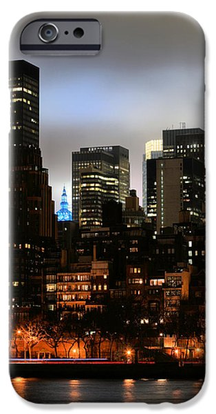 New York City Blue iPhone Case by JC Findley