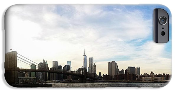 Buildings iPhone Cases - New York City Bridges iPhone Case by Nicklas Gustafsson