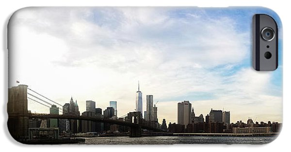 Skyscape iPhone Cases - New York City Bridges iPhone Case by Nicklas Gustafsson